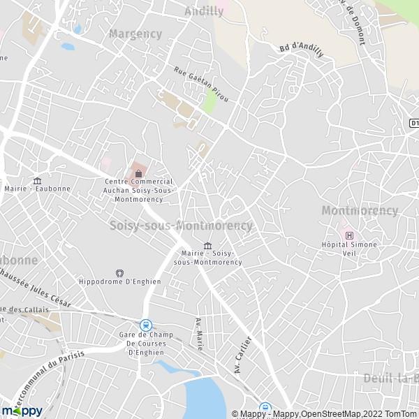 Plan Soisy Sous Montmorency Carte De Soisy Sous
