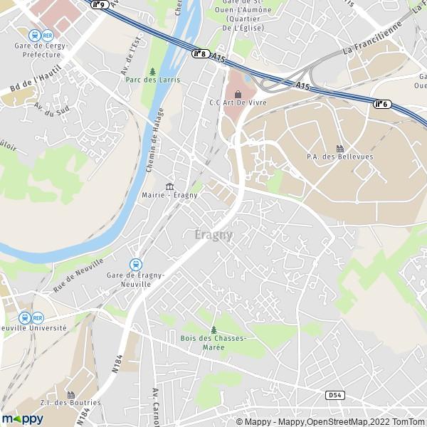 Plan Eragny Carte De Eragny 95610 Et Infos Pratiques