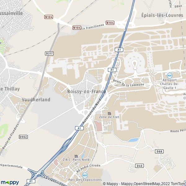 plan de Roissy-en-France, carte de Roissy-en-France