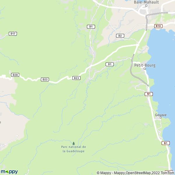 Plan petit bourg carte de petit bourg 97170 et infos for Plans d imprimerie